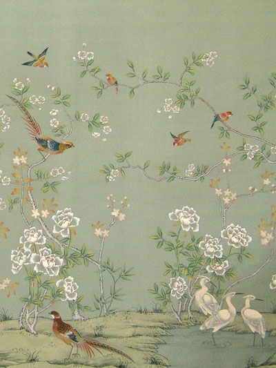 Wallpaper Designs With Birds : Chinoiserie chic part caribbean living