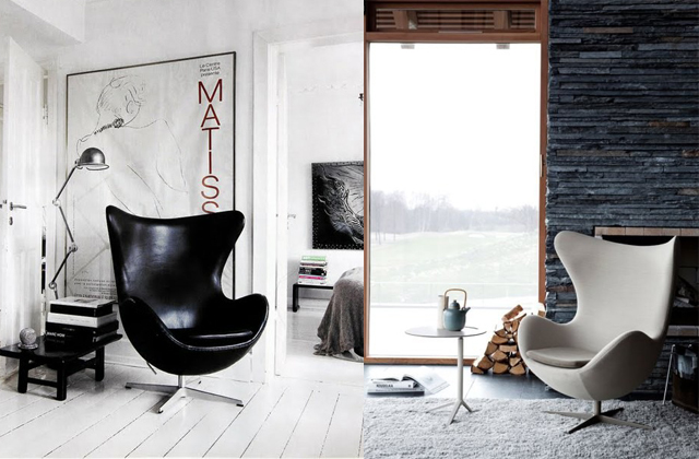 Cowhide Rug And Egg Chair Paired Up?! Come To Mama!