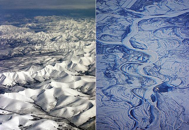 Alaska - Siberia aerial view2