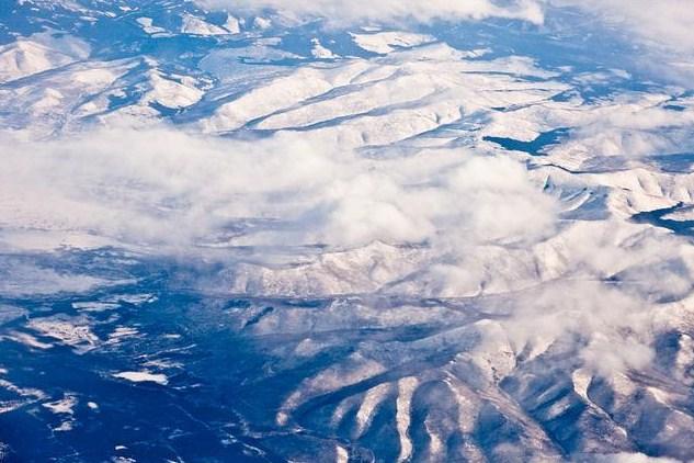 Alaska - Siberia aerial view3