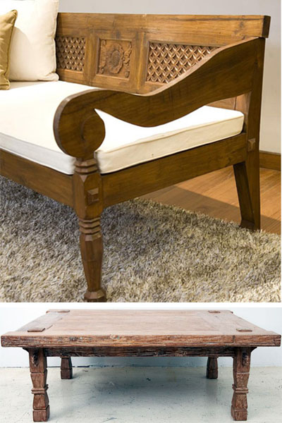Balinese daybed,coffee table