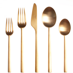 Horne gold cutlery