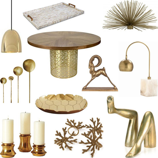 shopping guide brass interior design