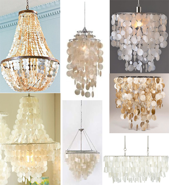 shopping guide capiz chandeliers