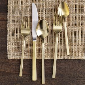 west elm gold cutlery