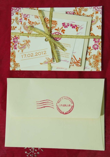 Indian style wedding stationery2