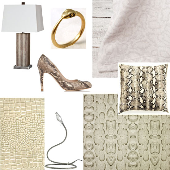interior design snakeskin