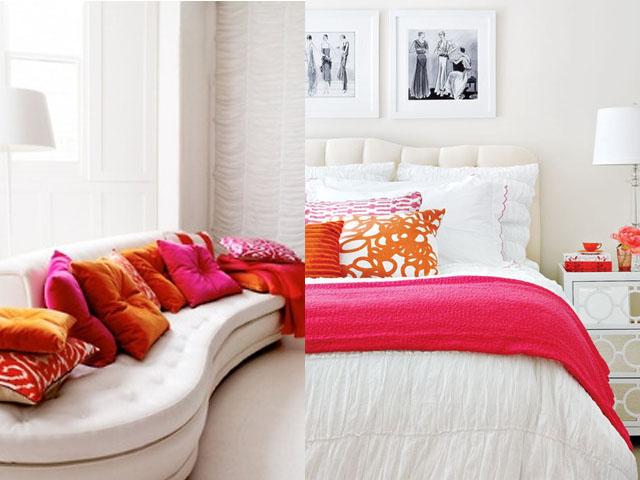 pink and orange interior design1
