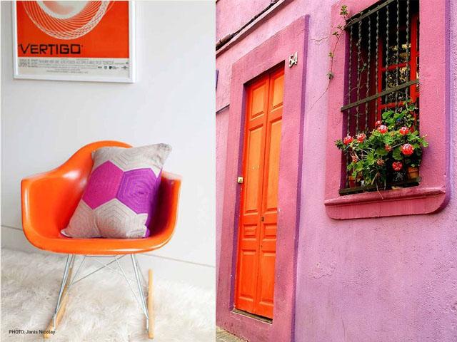 pink and orange interior design2