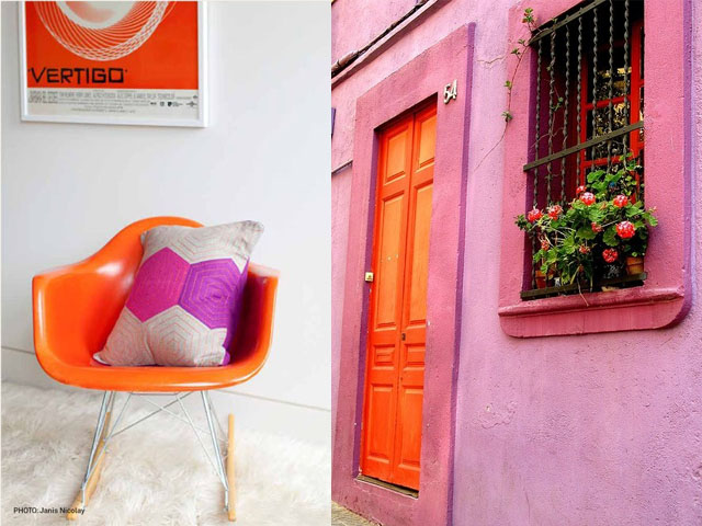 pink and orange interior design2