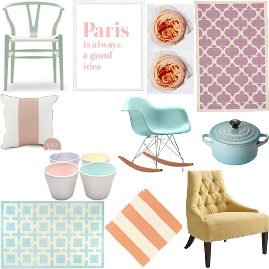 interior design pastels shopping guide