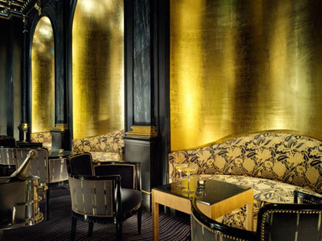 gold leaf wall interior design1