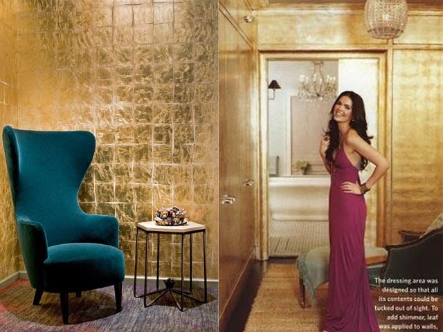 gold leaf wall interior design2
