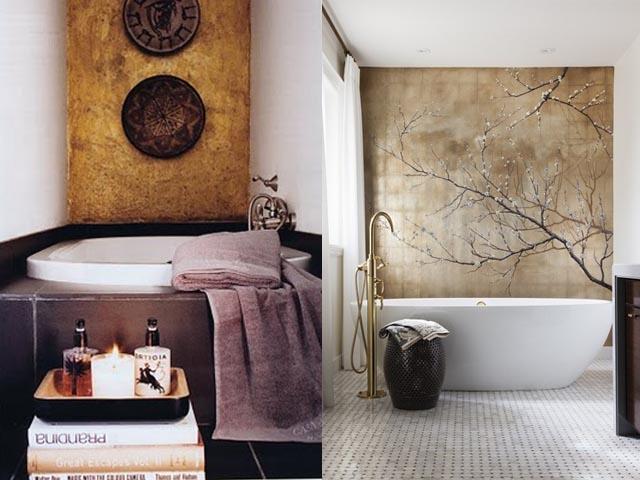 gold leaf wall interior design3