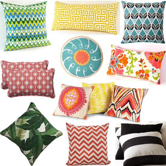 interior design outdoor pillows shopping guide