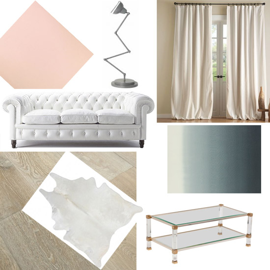 white fumed oak floorboard blush chesterfield living room