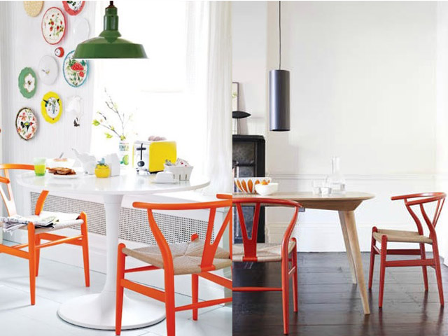 interior design colourful wishbone chair2