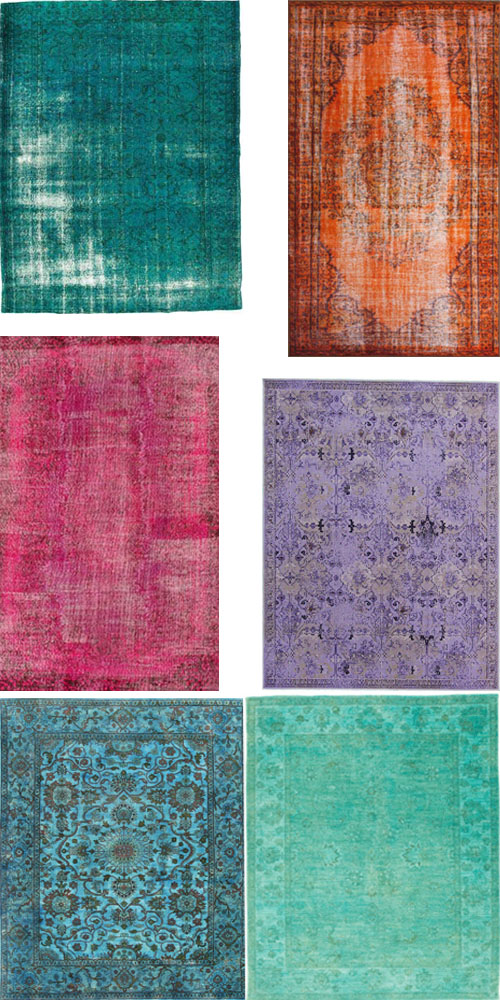 interior design shopping guide overdyed rugs