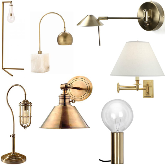 Brass Lamps Interior Design