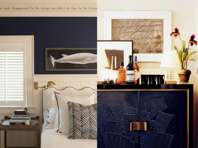 navy and gold interior design7