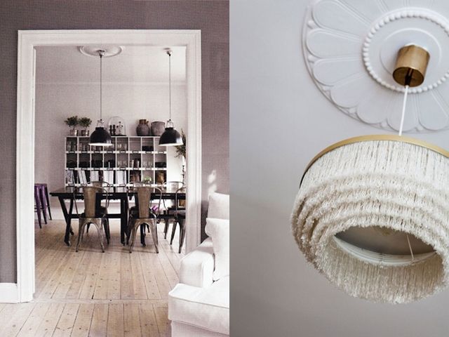 interior design ceiling rose with contemporary light10