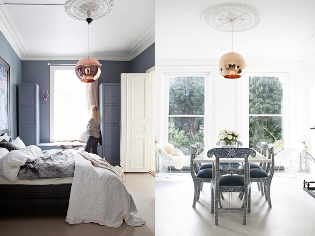 interior design ceiling rose with contemporary light2