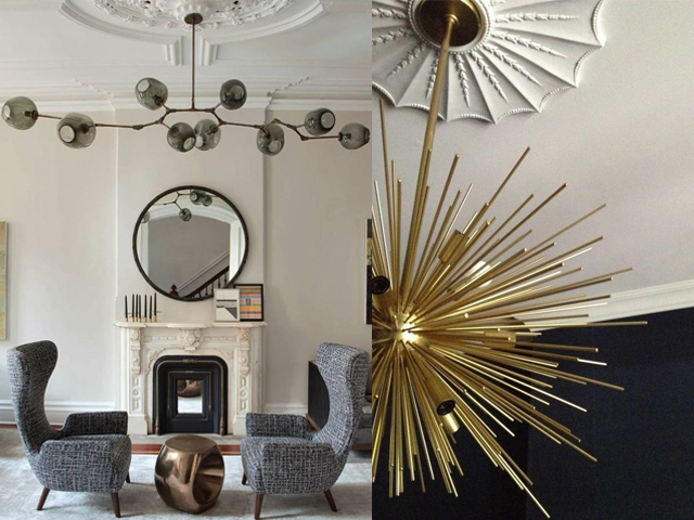 interior design ceiling rose with contemporary light3