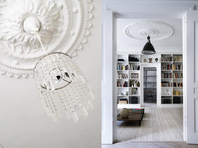 interior design ceiling rose with contemporary light7
