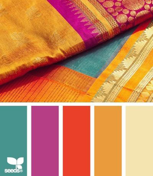 Indian fabrics interior design caribbean living blog - Jewel tones color palette ...