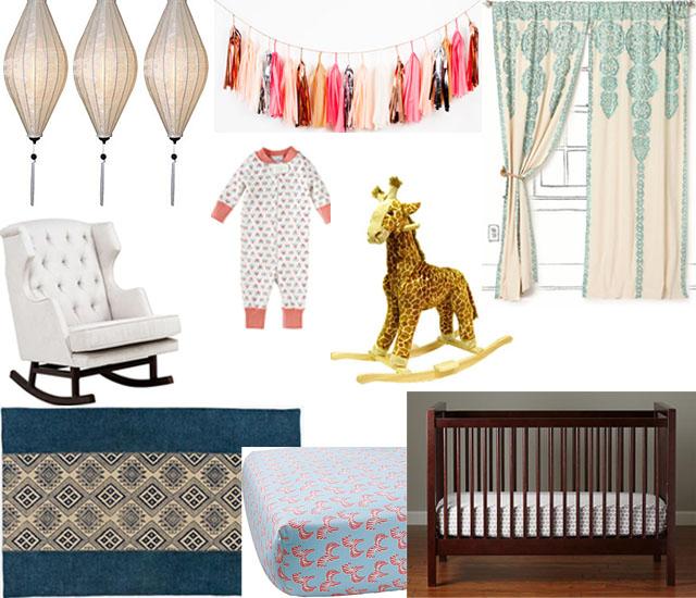 interior design colourful ethnic nursery