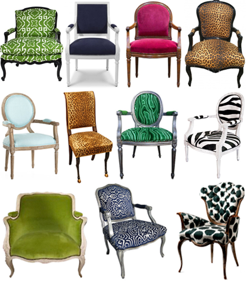 french chairs modern upholstery